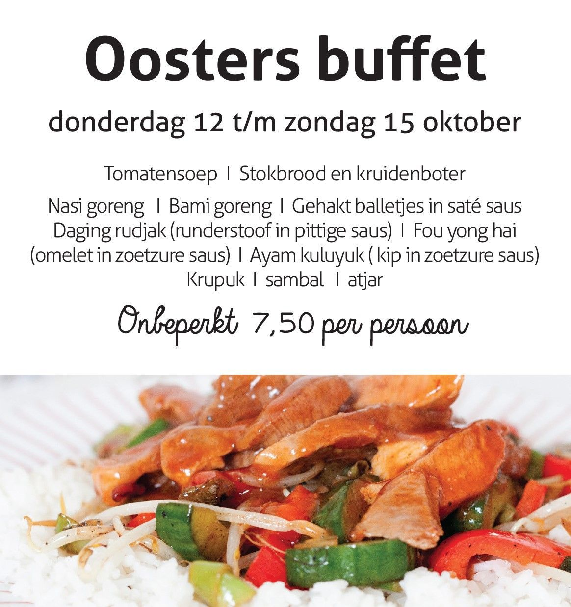 oosters buffet oktober 2017