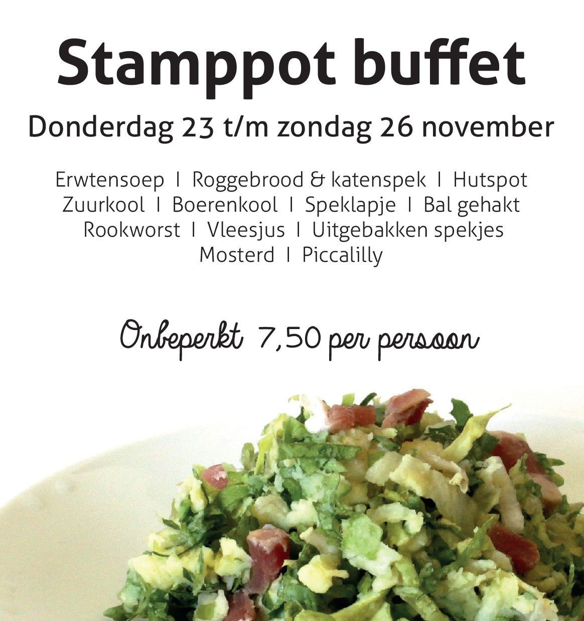 stamppot buffet november 2017